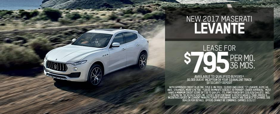 maserati of albany levante lease offer