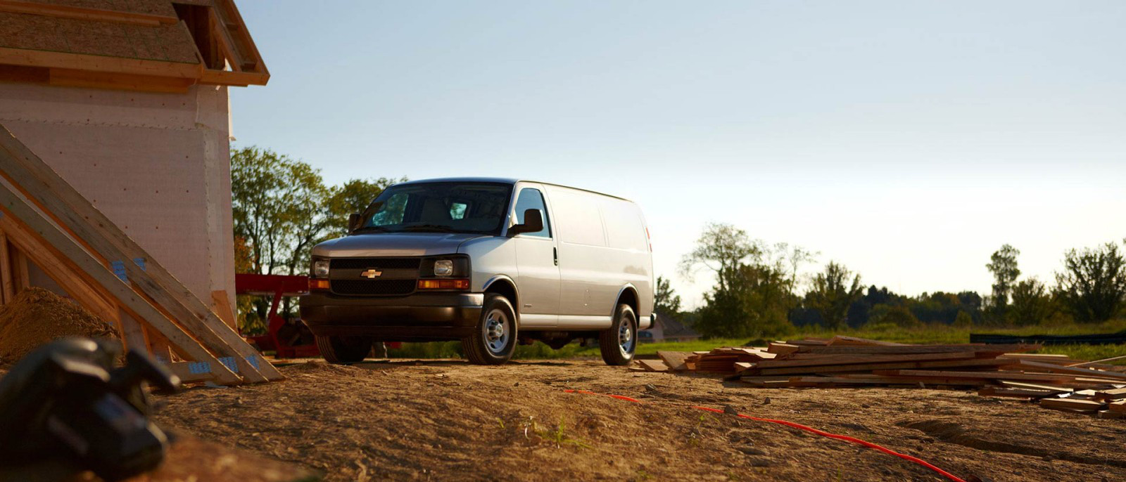 2015 Chevy Express Cargo Van in the field