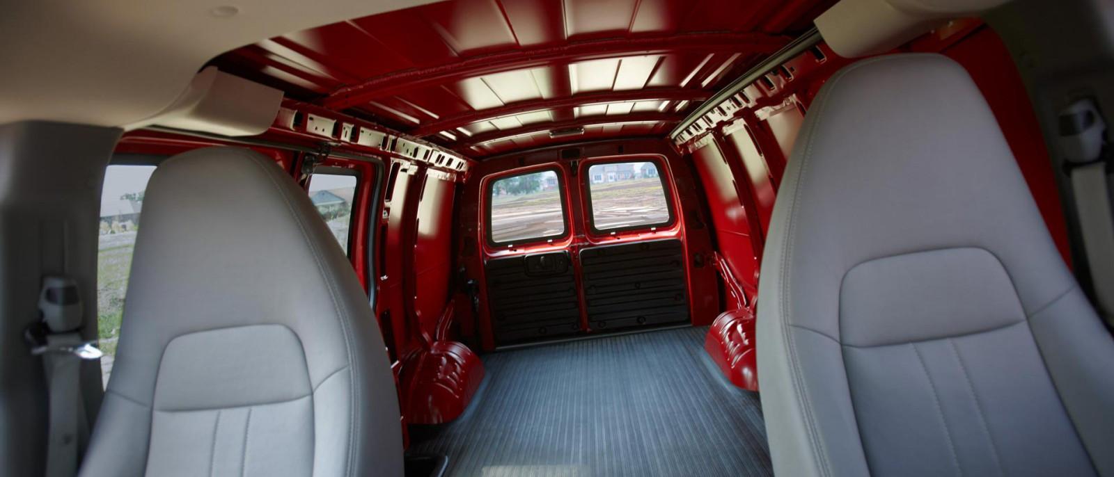 2015 Chevy Express Cargo Van interior
