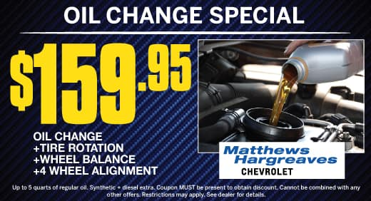 Oil Change Special Matthews Hargreaves Chevrolet Royal Oak