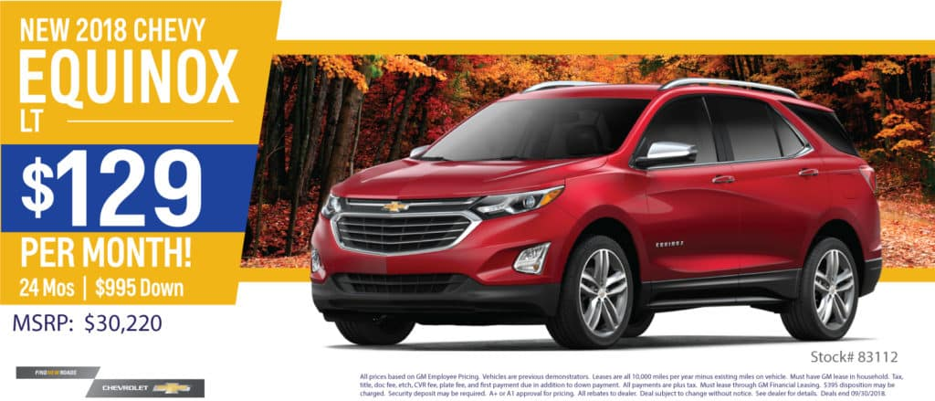 How Much Is Equinox Per Month >> Monthly Specials L Matthew Hargreaves Chevrolet L Royal Oak