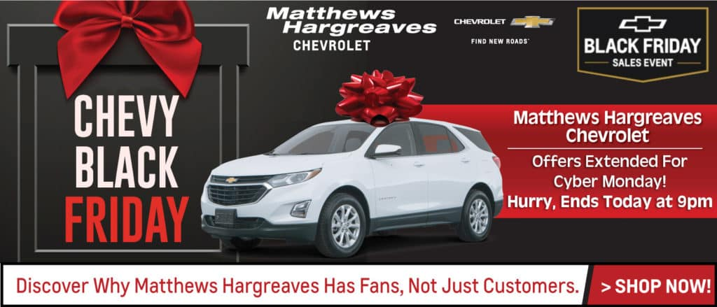 Chevy Black Friday Lease Offers All Month At Matthews Hargreaves Chevy