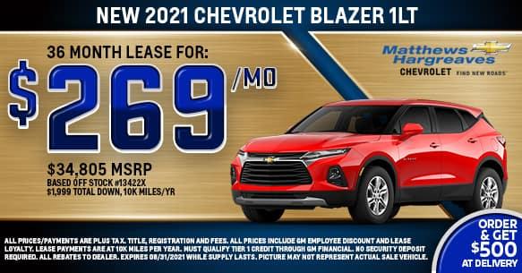 2021 Chevrolet Blazer 1LT Lease Offer