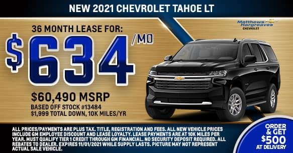 2021 Chevrolet Tahoe LT Lease Offer