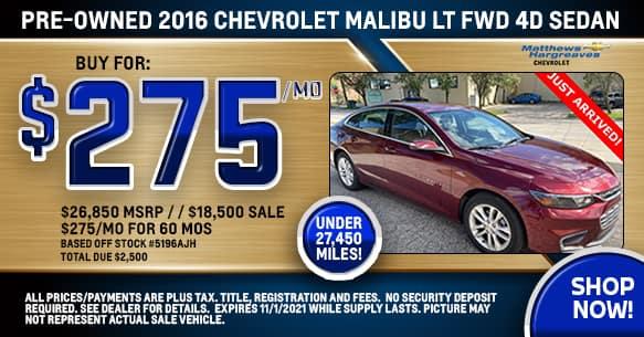 2016 Chevrolet Malibu LT Special