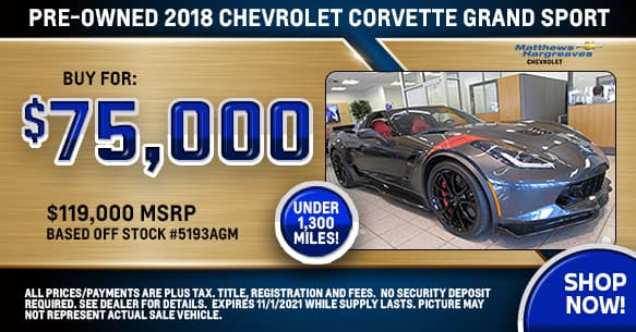 2018 Chevrolet Corvette Grand Sport Special