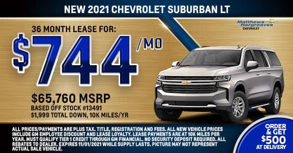 2021 Chevrolet Suburban LT Lease Offer