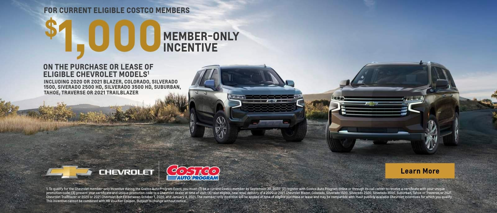 Costco Chevrolet Offer