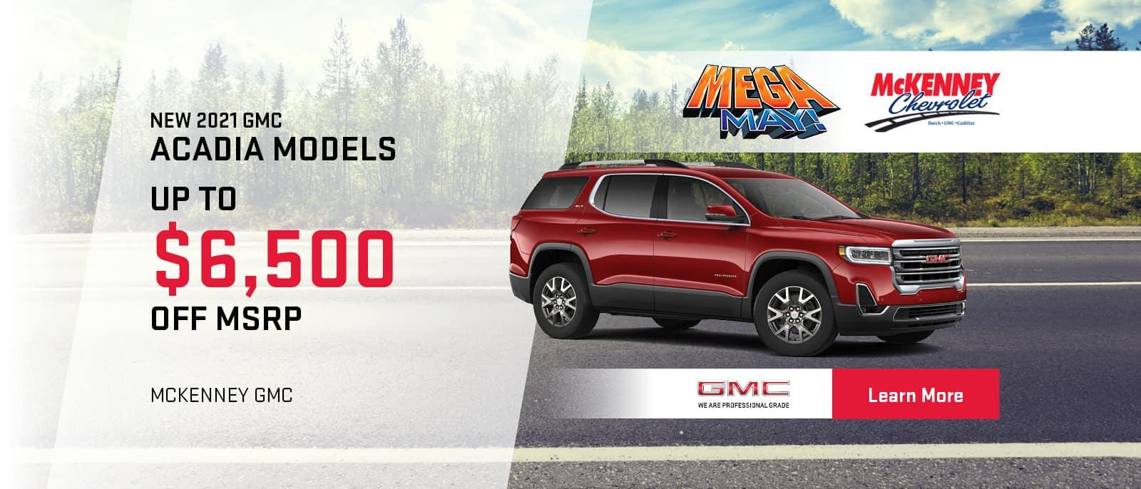2021 GMC Acadia Models