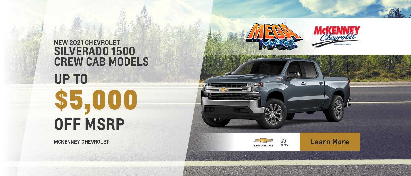 2021 Chevy Silverado 1500 Crew Cab Models
