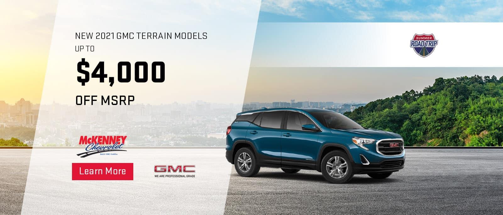 2021 GMC Terrain Models