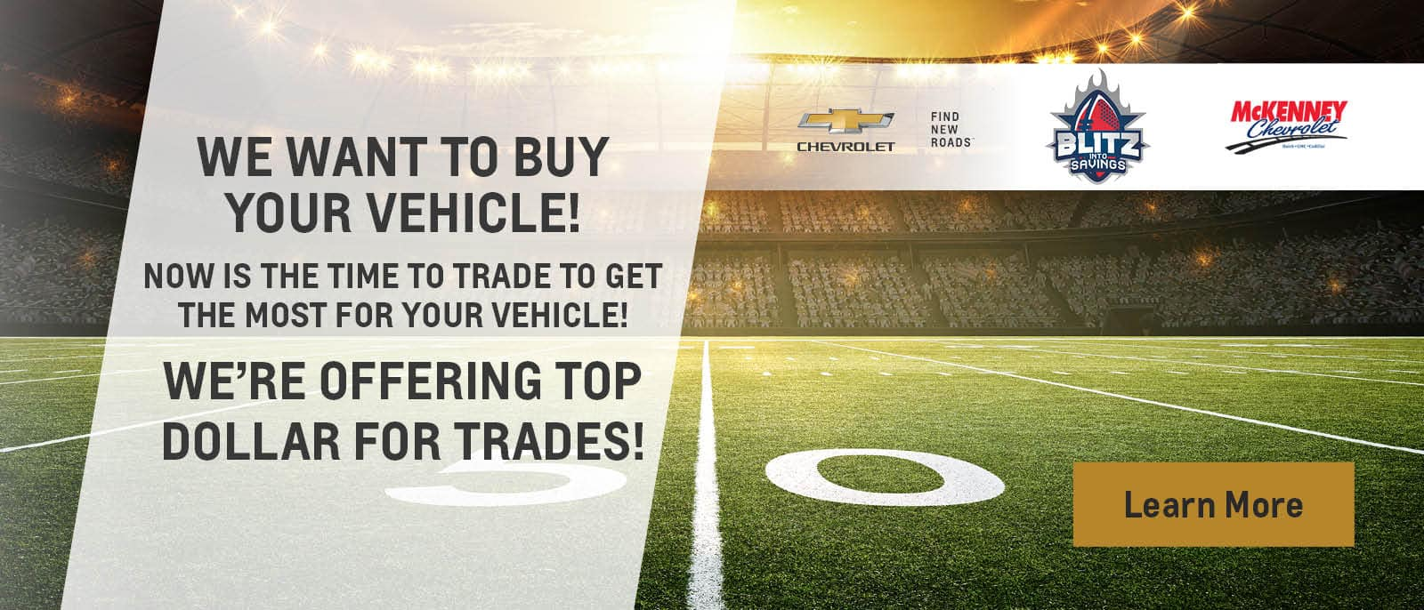 WE WANT TO BUY YOUR VEHICLE!
