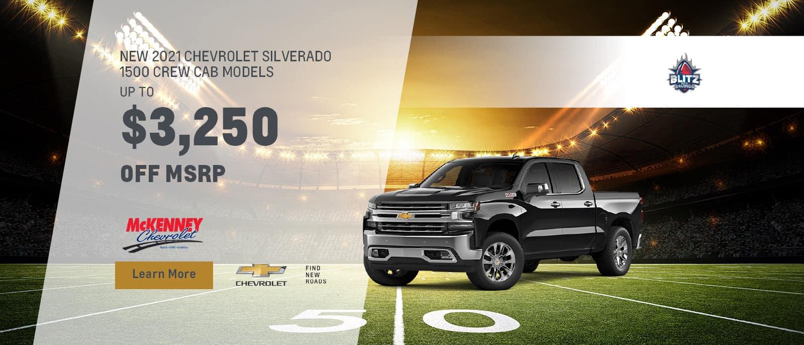 2021 Chevrolet Silverado 1500 Crew Cab Models