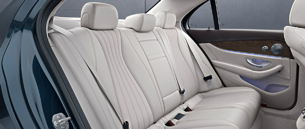 2018 Mercedes-Benz E-Class sedan back seat