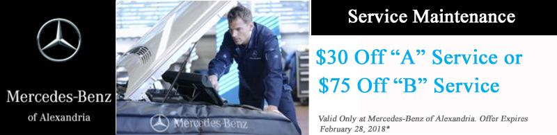 Service specials mercedes benz service near washington dc for Mercedes benz service discount