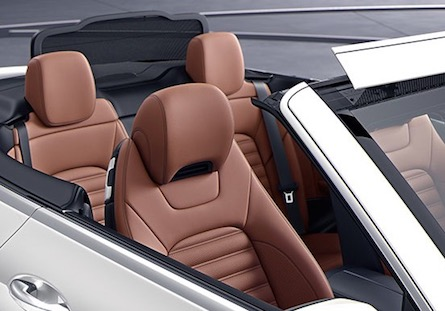 Passenger space in the 2018 Mercedes-Benz C-Class Cabriolet