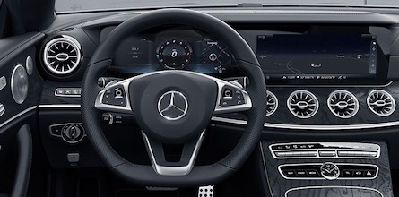 Cabin of the 2018 Mercedes-Benz E-Class Coupe