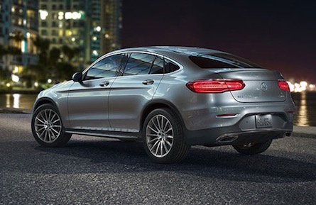 Exterior of the 2018 Mercedes-Benz GLC Coupe