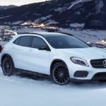 2020 Mercedes-Benz GLA in snow