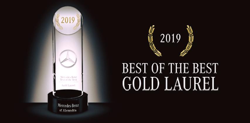 2019 Mercedes-Benz Best of the Best Dealer Gold Laurel Recognition Award