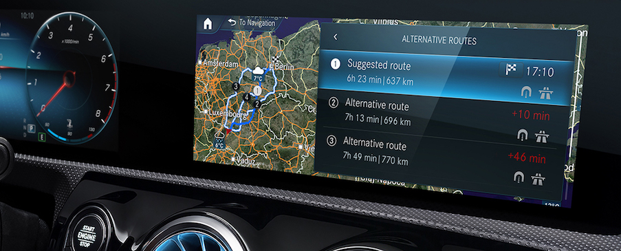 Mercedes me connect services interface