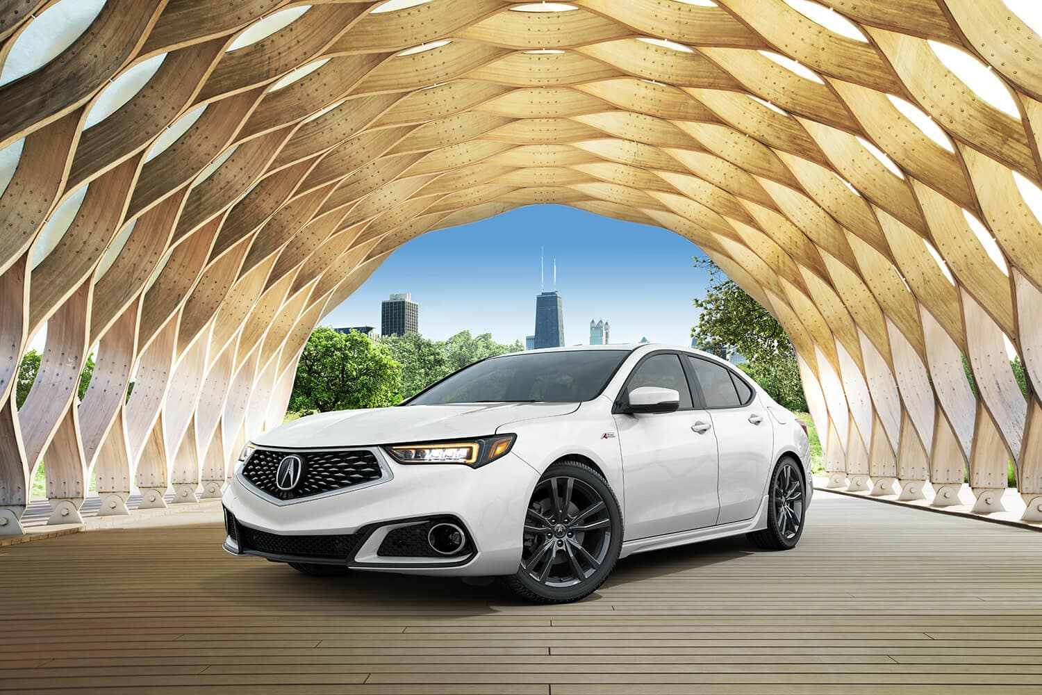 2019 Acura TLX Exterior City Passenger Side