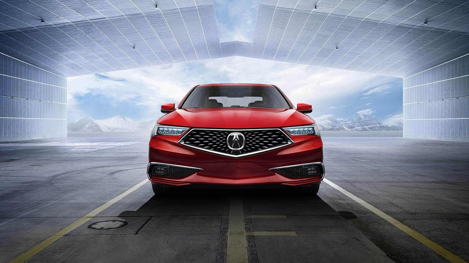 2019 Acura TLX Exterior Front Facing Red