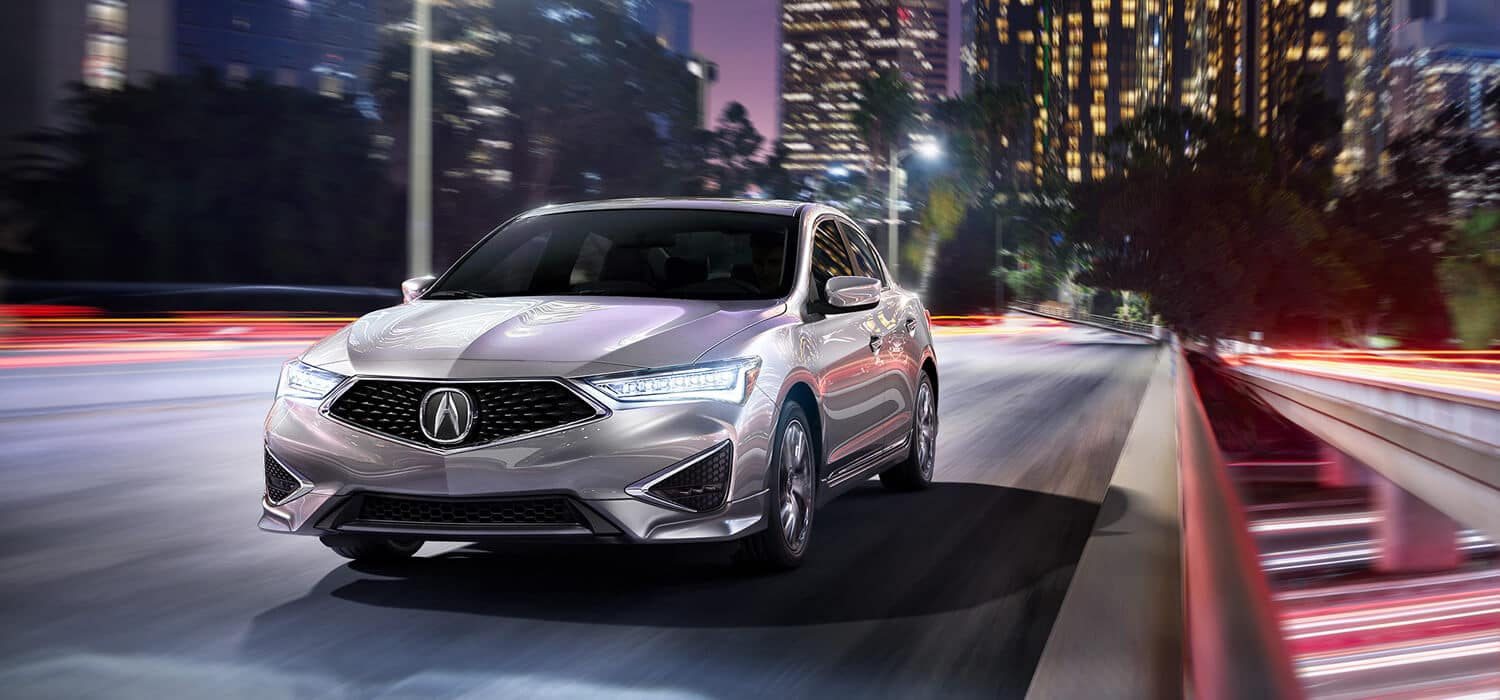 2019 Acura ILX Exterior Front Angle Driver Side Night