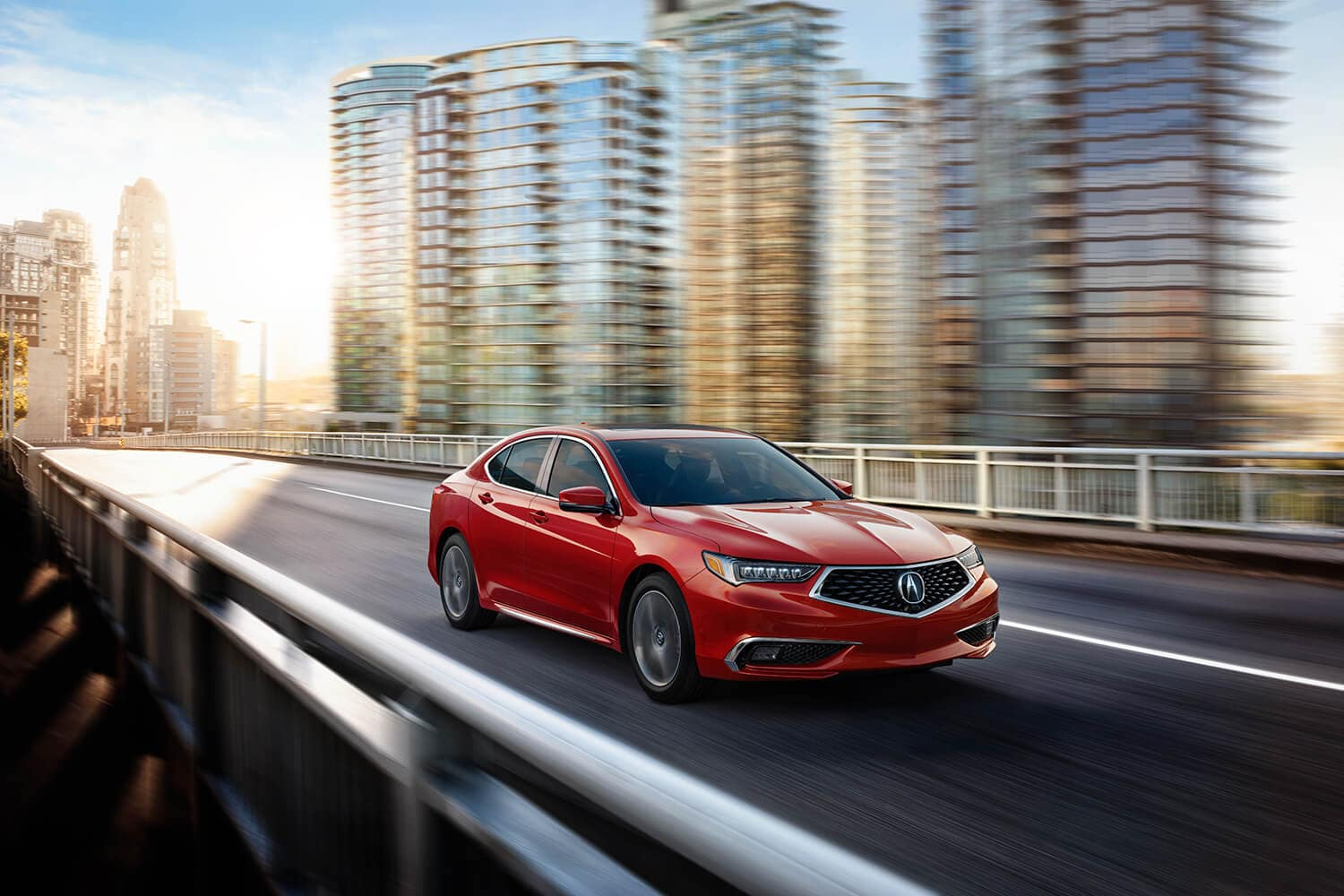 2020 Acura TLX Exterior Front Angle Passenger Side Bridge