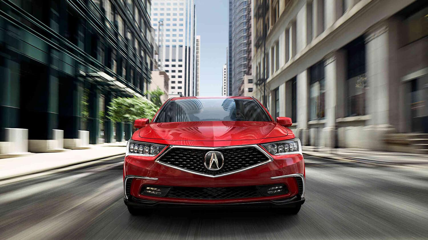 2020 Acura RLX Exterior Front Angle Diamond Pentagon Grille