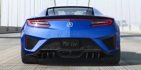 2020 Acura NSX Proportions and Surfaces