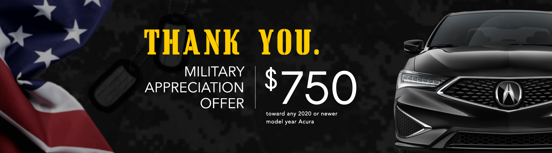 2020 Acura Military Appreciation Offer Banner