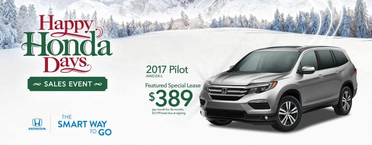 Happy Honda Days 2017 Pilot Lease Offer