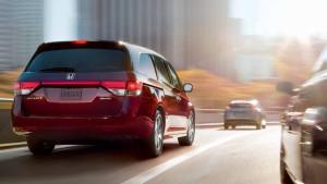 2017 Honda Odyssey Exterior Rear Angle Red