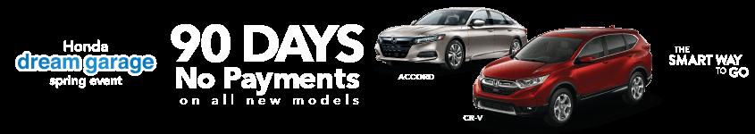 Mid-Michigan Honda Dealers 2019 Honda Dream Garage 90-Day Deferment HP Slide
