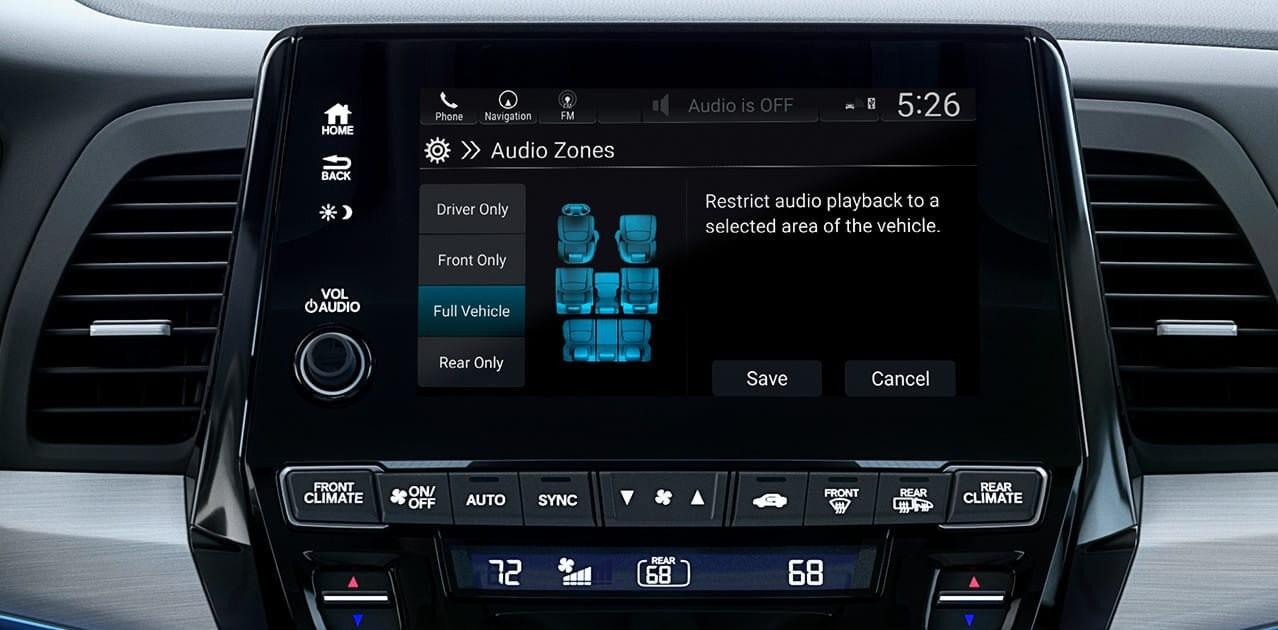 2018 Honda Odyssey Audi Zones