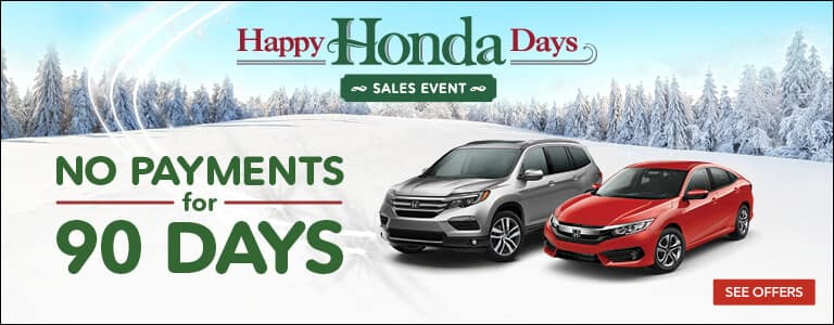 Mid-Michigan Honda Dealers Happy Honda Days 90-Day Deferment