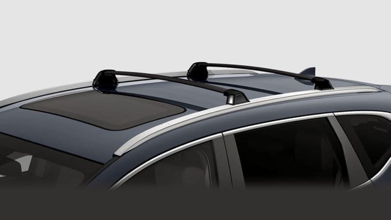 roof rails and crossbars for the 2018 Honda CR-V