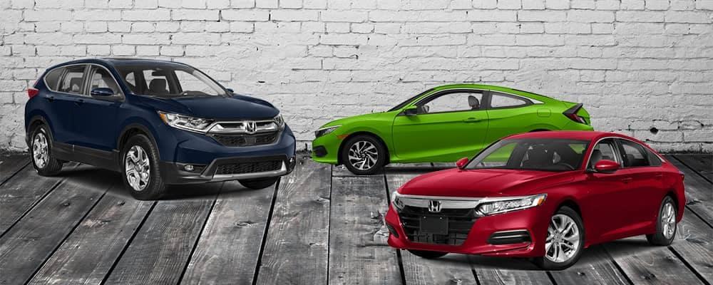 2018 Honda Accord Civic and CR-V