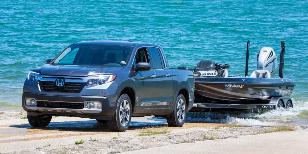 2019 Honda Ridgeline tows boat