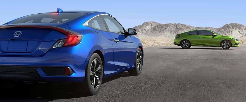2018 Honda Civic Blue and Green