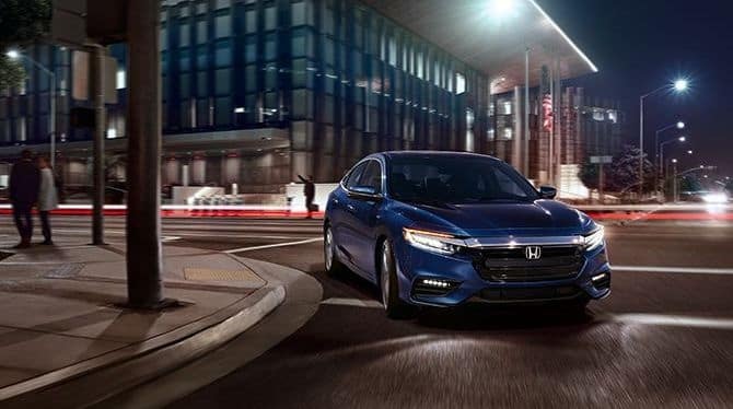2019 Honda Insight Blue Night Time Driving