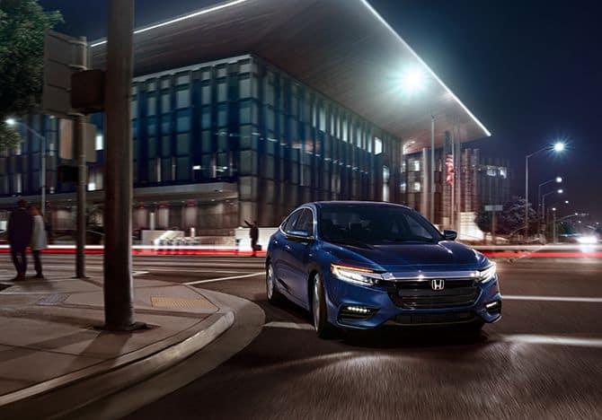 2019 Honda Insight Blue Night Time Driving