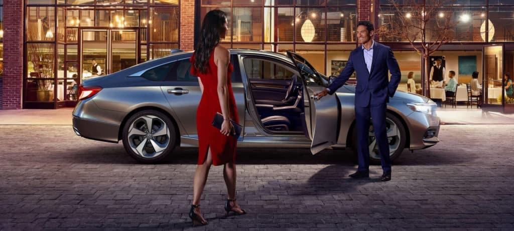 2018 Honda Accord Hybrid with Man Opening Door