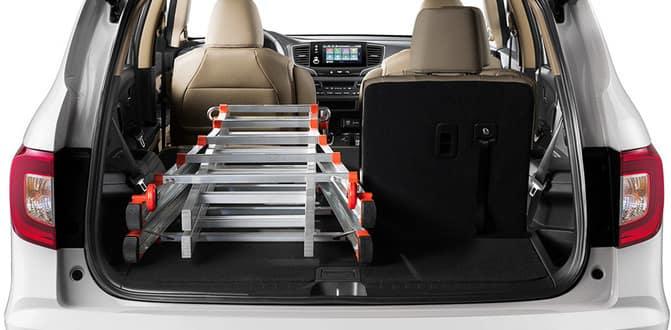 2019 Honda Pilot Folded Rear Seats