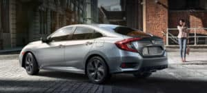 2019 Honda Civic Sedan Exterior Rear Angle Driver Side City