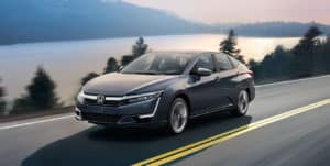 2019 Honda Clarity Plug-In Hybrid Exterior Front Angle Driver Side