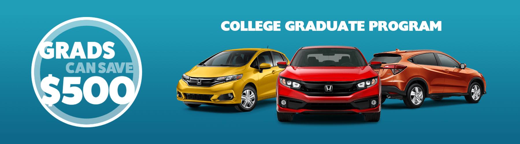 2019 Honda College Graduate Program Slider