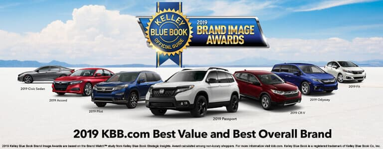 Honda 2019 Kelley Blue Book Brand Image Award Mobile Slide