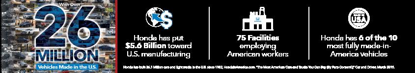 Mid-Michigan Honda Dealers Made in America HP Slide